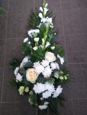 Smútočná vypichovaná kytica Gladiola