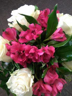 Bielo-ružová kytica