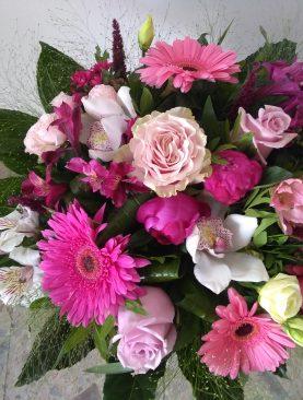 Ružová miešaná kytica