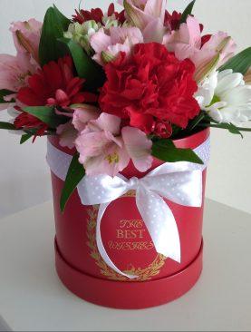 Červeno - ružový box