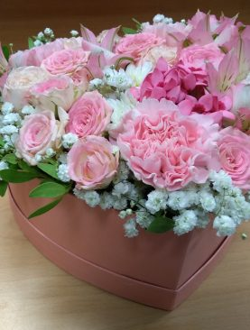 Ružový romantický box