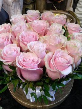 Romantický box ruží