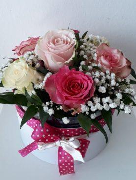 Box ružových ruží