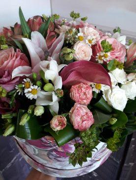 Elegantný kvetinový box