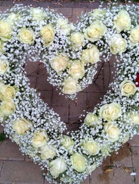 Smútočný veniec - 2 ruže