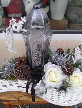 Vianočný aranžmán do cintorína